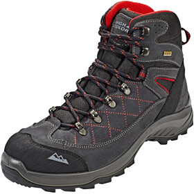 High Colorado Gaebris Mid High Tex Wanderschuhe Herren schwarz-grau-rot